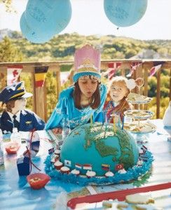 Globe Cake Around The World Themed Birthday Party Ideas Decor