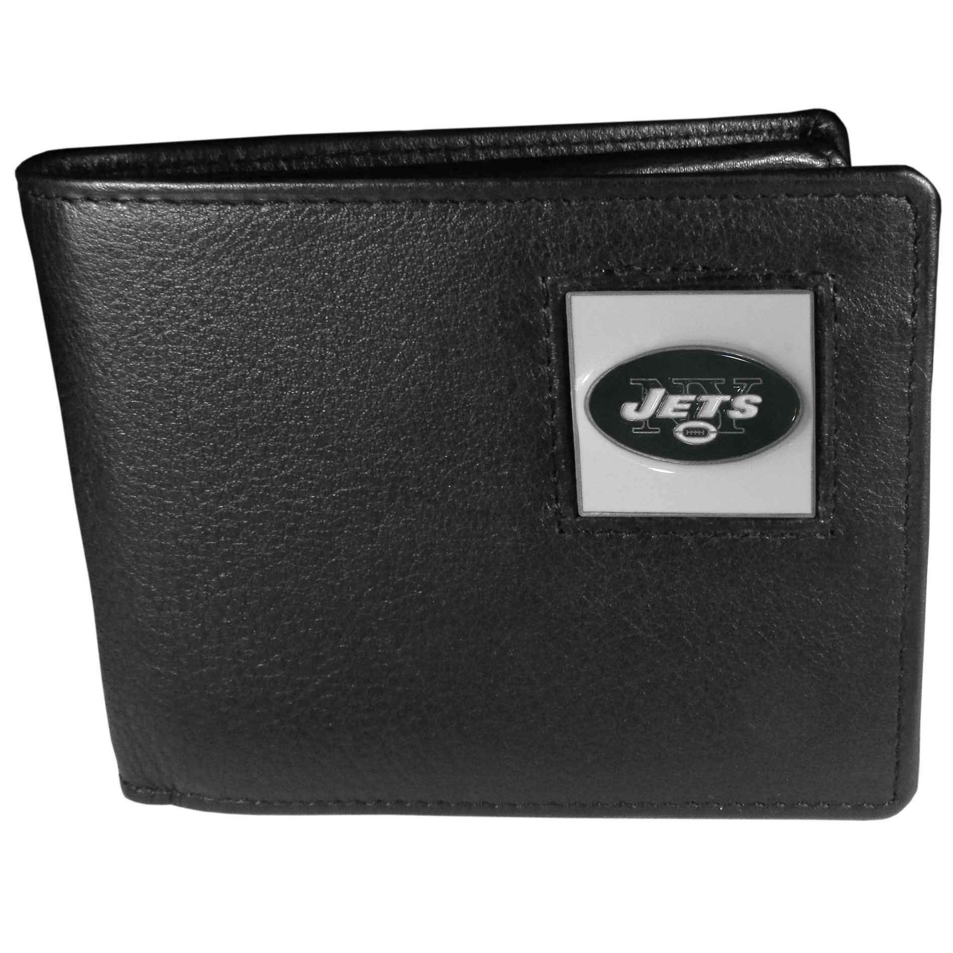 New York Jets Leather Bi-fold Wallet Packaged in Gift Box  49b760940