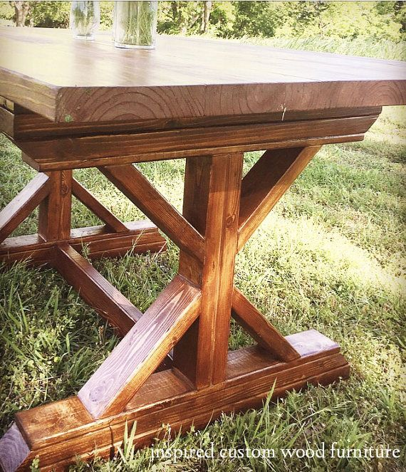 X Frame Farmhouse Table Stained In Minwax English Chestnut Wood Stain ColorsFarmhouse Dining