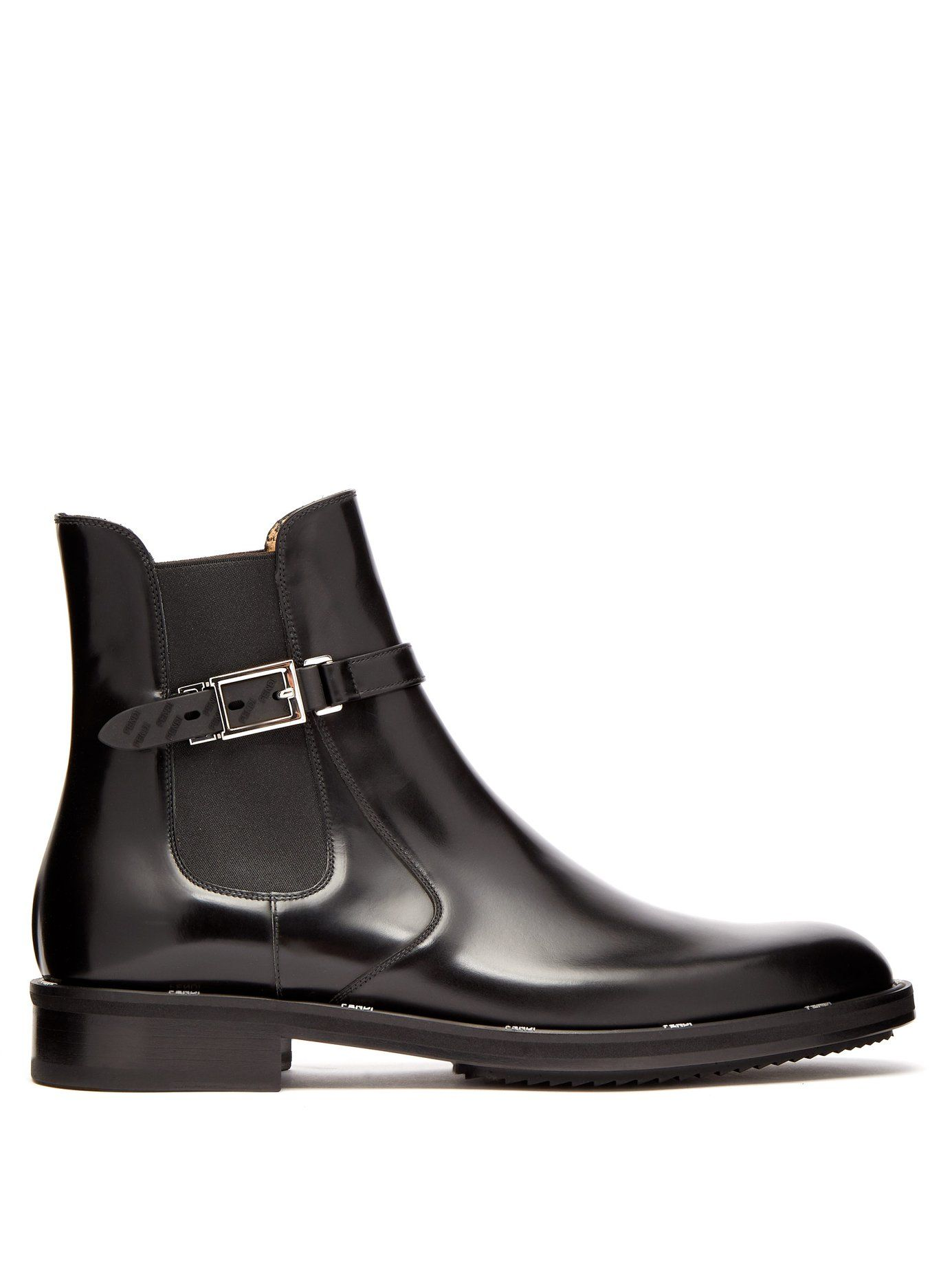 a960e60e2b86a7 Buckled leather chelsea boots | Fendi | MATCHESFASHION.COM UK ...