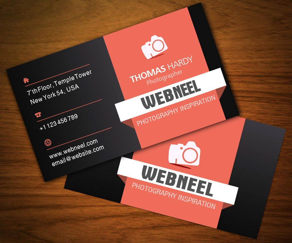 Free Photography Business Card Design Template Photography Business Cards Business Card Template Design Business Card Design Photography