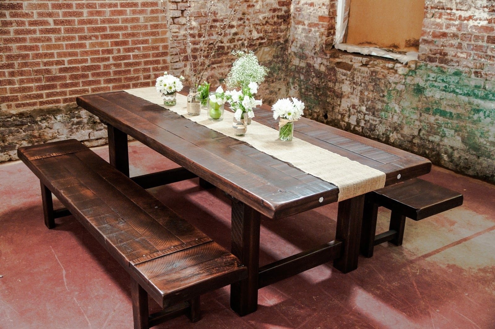 21+ Rustic dining room table sets with bench Best Choice