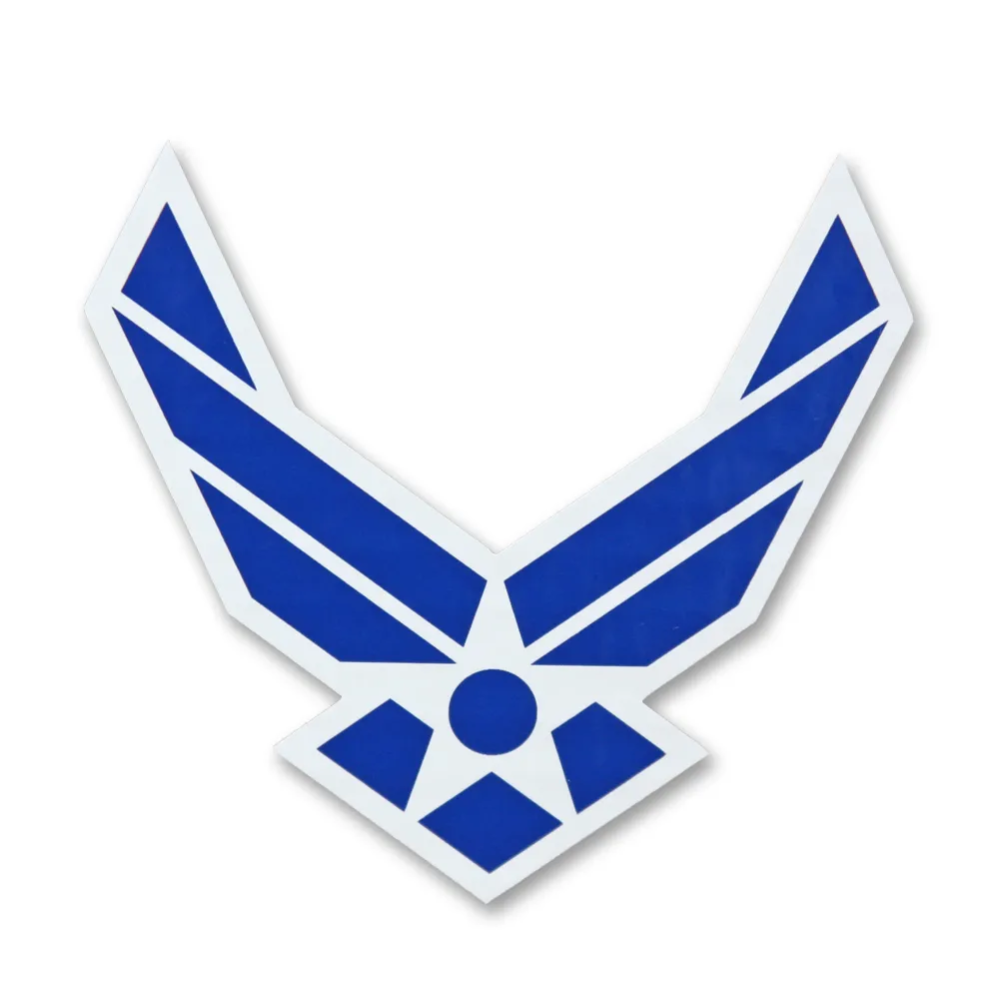 Show Your Air Force Pride With The Air Force Wings Logo Decal Perfect For Your Car Or Any Smooth Surface Made In The Wings Logo Air Force Air Force Clothing