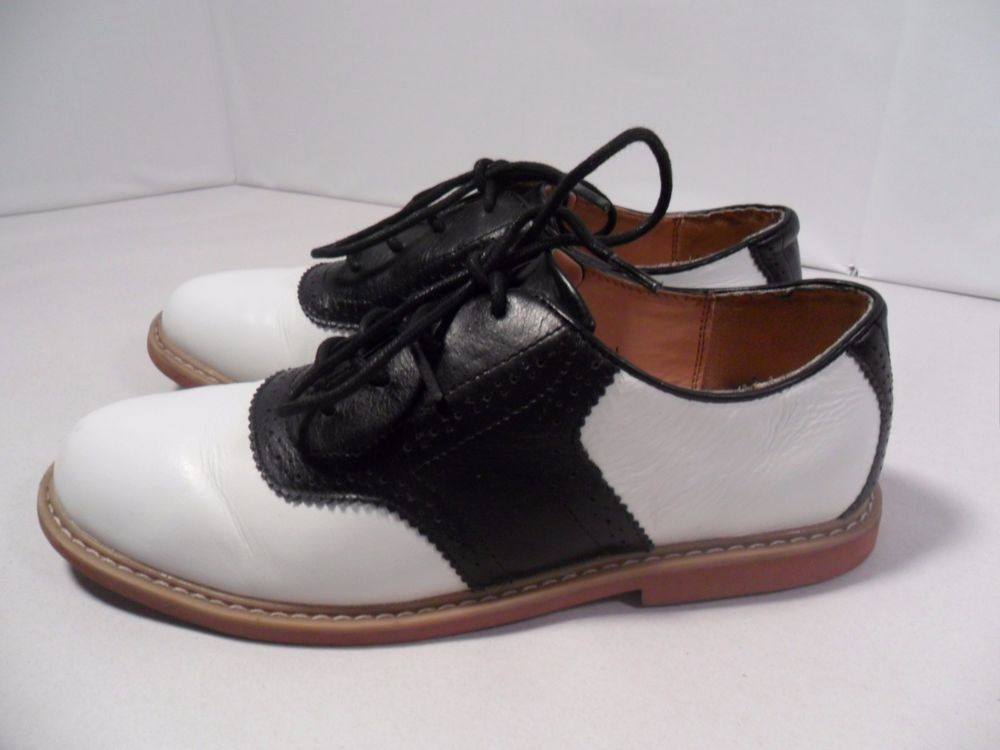 Women's Cole Haan Nike Air Franklin Saddle Shoes Comfort Black & White  Leather-5 #