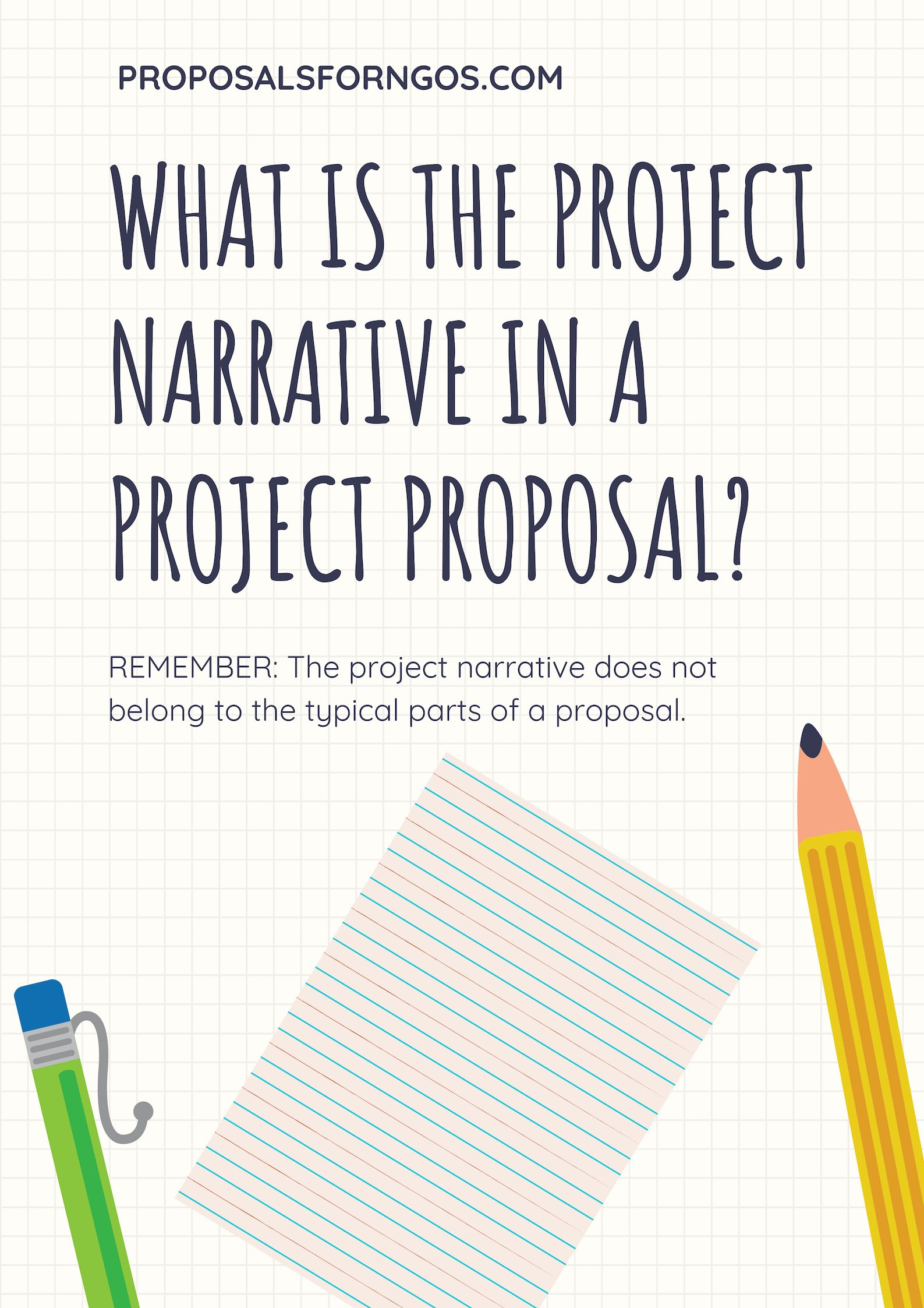 What Is The Project Narrative In A Project Proposal Proposal