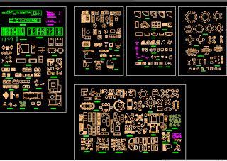 Conjunto de bloques autocad 2d arq recursos casa en for Inodoro dwg