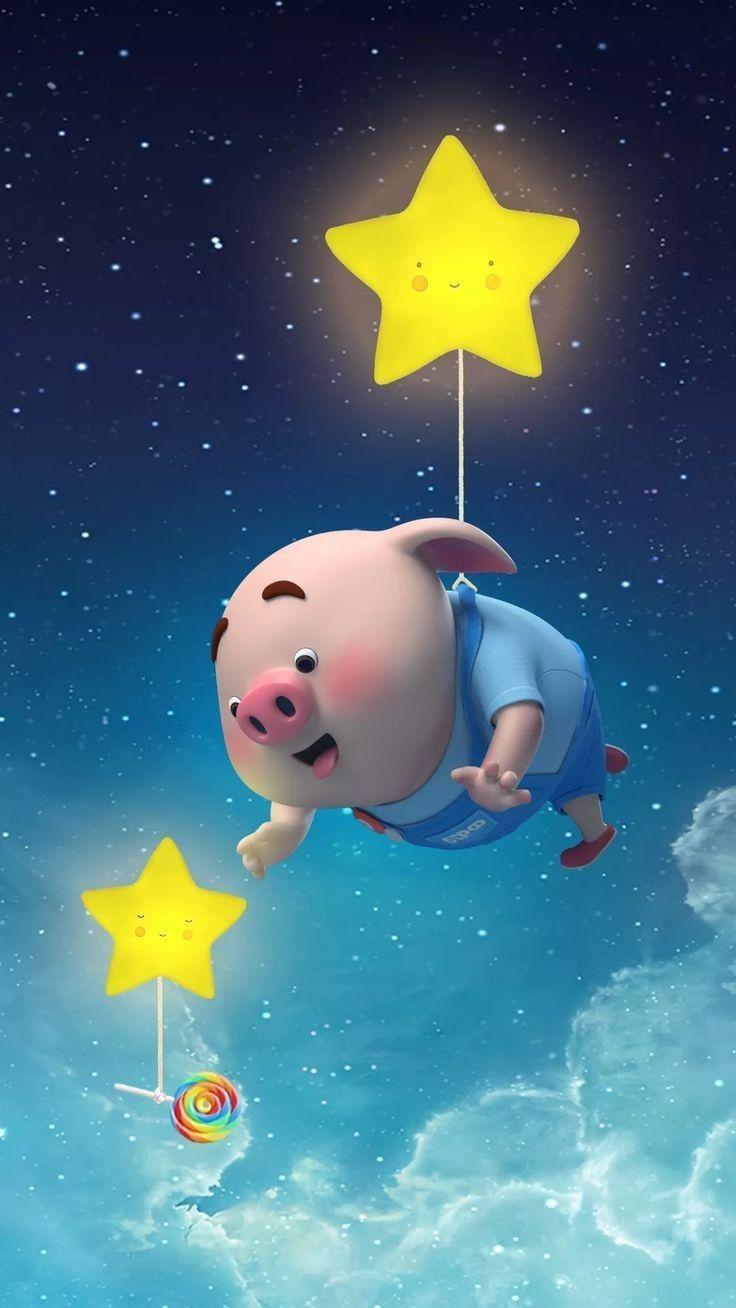 Pig 🍭 | Arte Del Cerdo, Fondos Lindos Para Celular, Cerdos Animados 8E9
