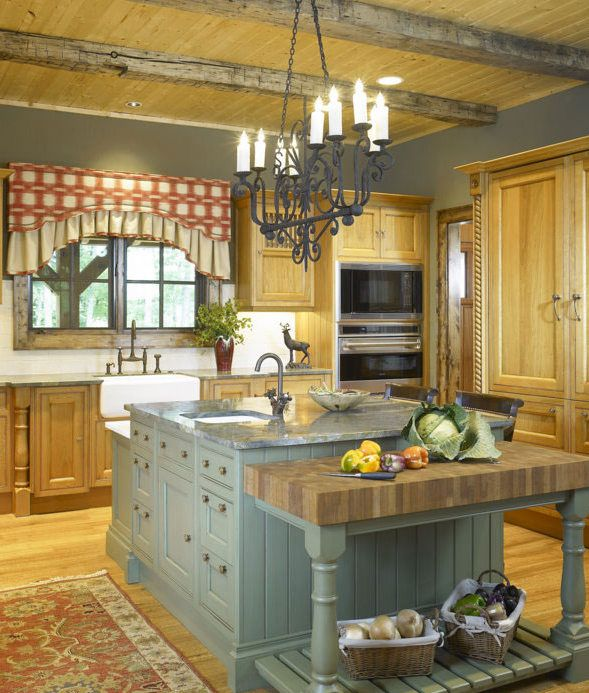 Pale Yellow Country Kitchen: English Country Kitchen Interior