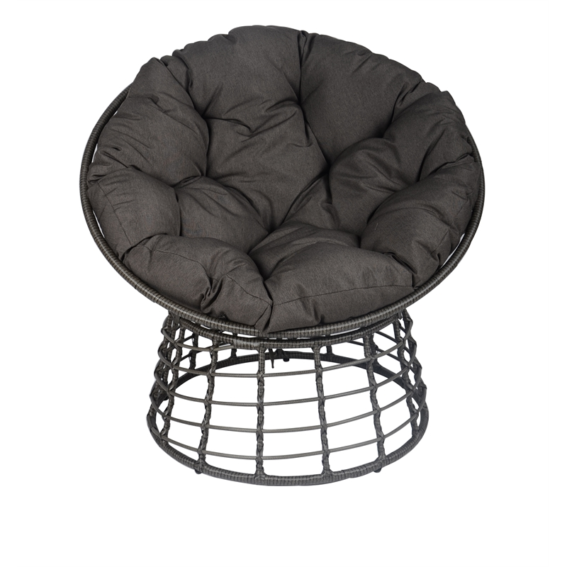 Mimosa Round Lounge Steel Chair With Cushion Bunnings