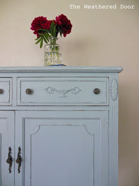 Tall Breezy Dresser, Paint color Breezy by Sherwin Williams
