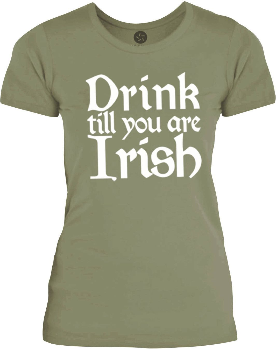Big Texas Drink till you are Irish (White) Womens Fine Jersey T-Shirt