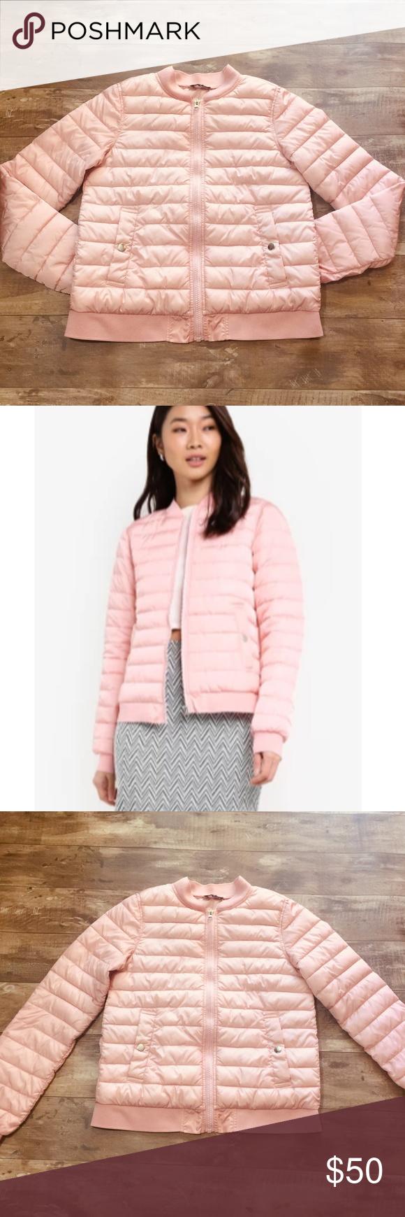Pink Puffer Jacket Euc Clothes Design Jackets Fashion [ 1740 x 580 Pixel ]