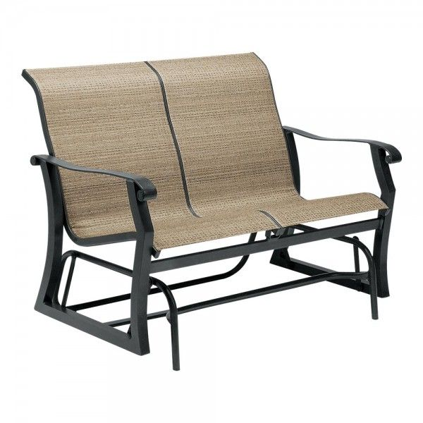 woodard cortland sling gliding loveseat desk furniture ideas