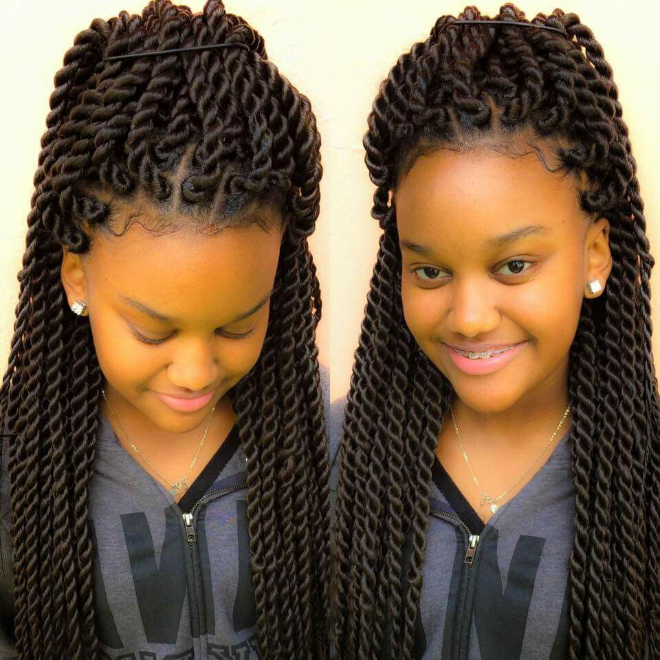 Chunky twists for the tweens kids hairstyles pinterest - Tresse africaine femme ...