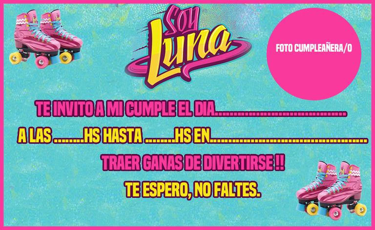 Invitacion Candy Bar Soy Luna Tarjetita Cumpleaños De Soy