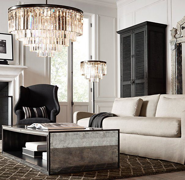 Lovely Vintage Living Room Ideas With Glamour Furniture: Bright Lights & Vintage-Scapes