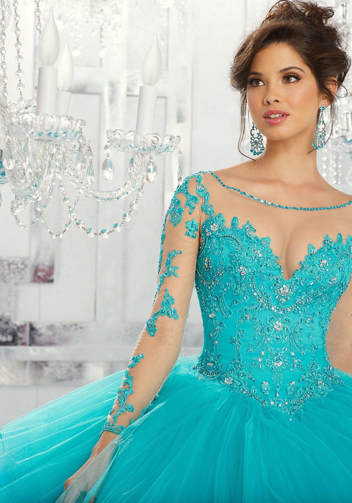0ce33bedf Beaded Embroidery Vestidos de XV Años Morilee