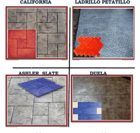 Moldes para concreto estampado aida pinterest for Molde para cemento