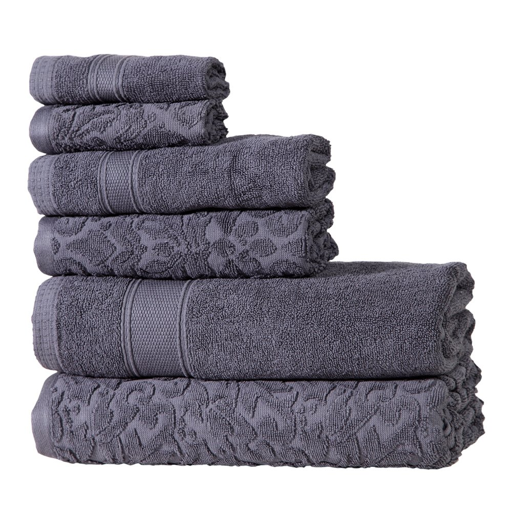 Intradeglobal S Premium Cotton 6 Pc Bath Towel Set Perfect For