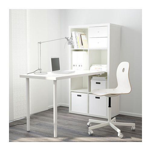 kallax combinaison bureau brillant blanc ikea meubles ikea relook s pinterest ikea. Black Bedroom Furniture Sets. Home Design Ideas