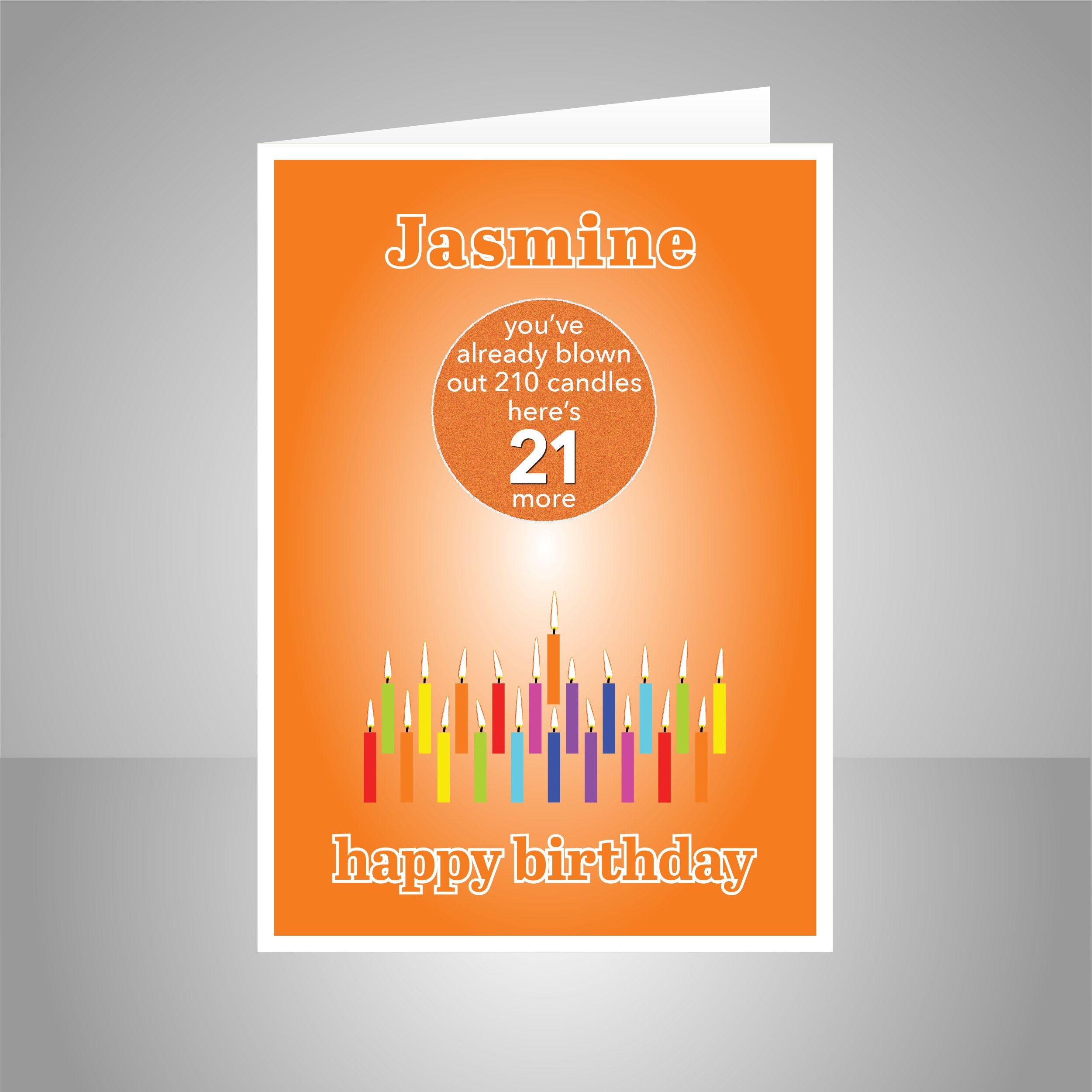 funny 21st birthday card for him for her edit name 21