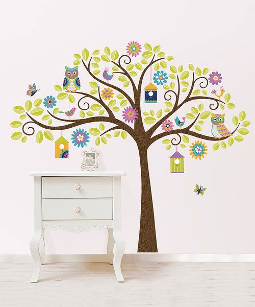 Take a look at the Owl Tree Decal Set on #zulily today!