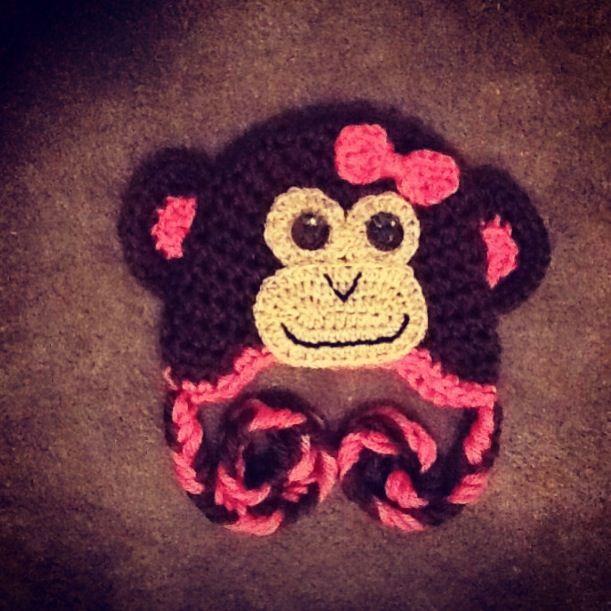 Crochet Monkey Hat Crochet Crochet Kids Hats Crochet Monkey Hat