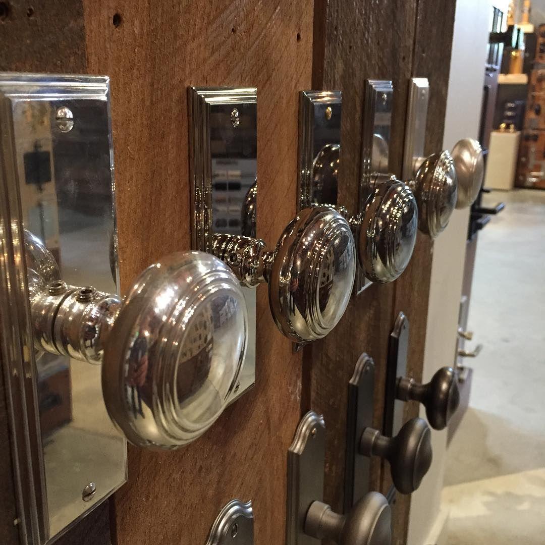 (@brandinobrass) U2022 Silver Door Hardware. Polished Nickel.
