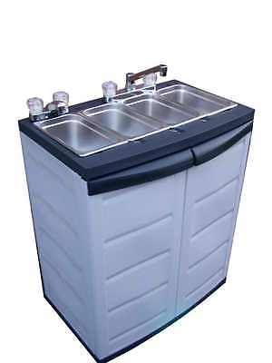 Portable 4 Compartment Sink.695 00 Portable Concession 4 3 Compartment Sink In