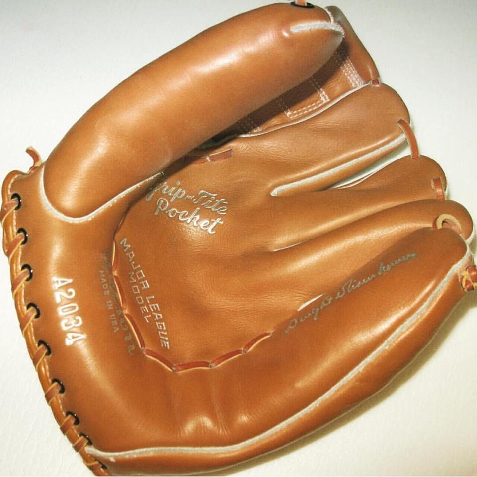 Baseball glove given to Eisenhower in 1955 by Clark Griffith, former owner of the Washington Senators. www.jeffreymarkell.com #ilikeike #orangecountyrealtor #ochomesbyjeff