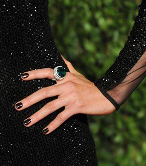 midnight nails - 2011 spring summer trend