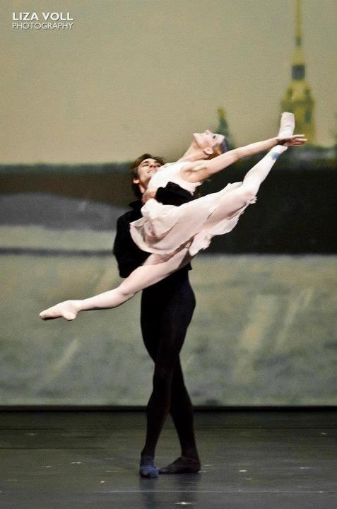 "Friedemann Vogel and Alicia Amatriain in ""Onegin."" Photo by Liza Voll"