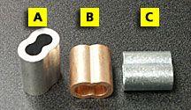 "Aluminum Duplex Sleeve 1/16""   .09 each"