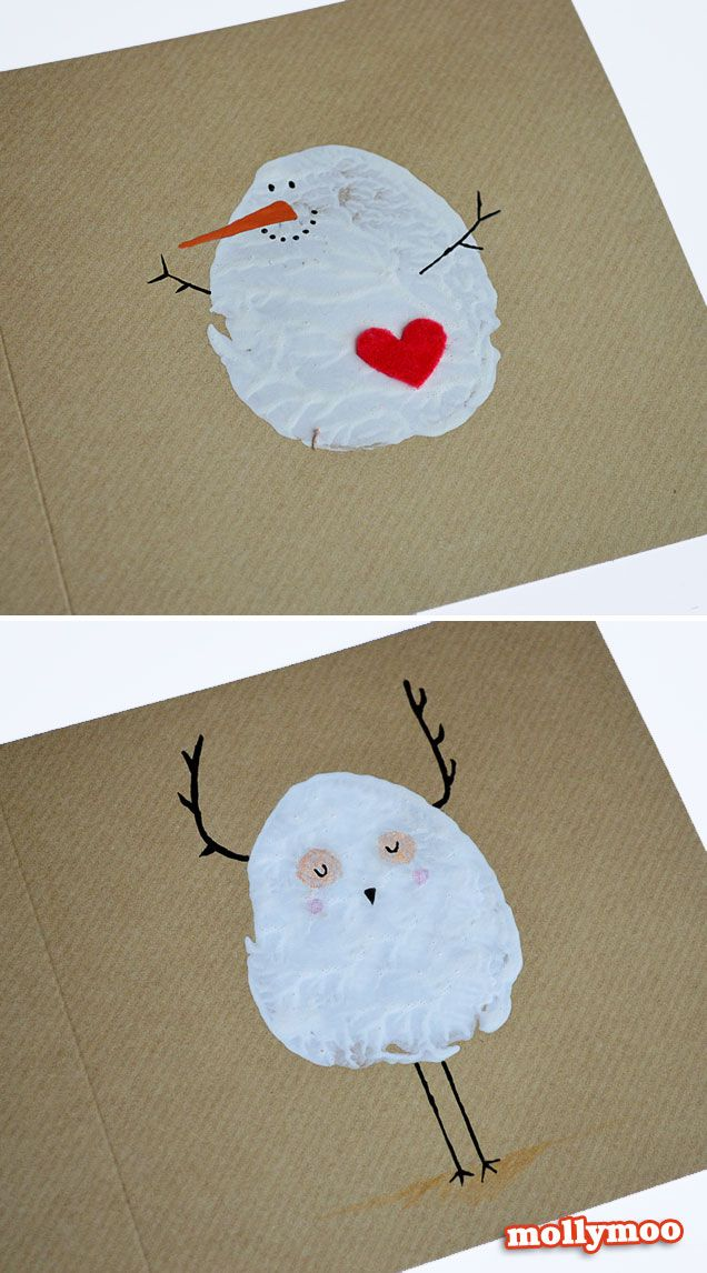 diy christmas cards potato printed snowman weihnachten. Black Bedroom Furniture Sets. Home Design Ideas