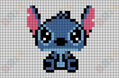 Stitch Pixel Art Pattern Stitch Disney Pixel Art