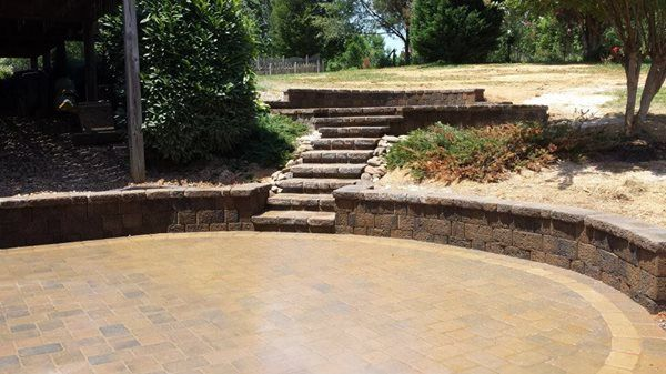 Multi Level Paver Patio With Steps. See More At  Www.tranquilitybrickpavers.com