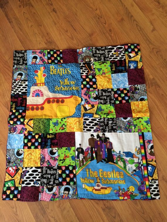 Beatles Inspired Patchwork Throw Blanket Not A Licensed Product Mesmerizing Beatles Throw Blanket