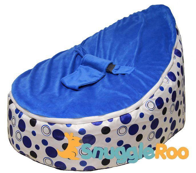 Terrific Snuggleroo Com Baby Bean Bags Blue Polka Dots Greyson Bralicious Painted Fabric Chair Ideas Braliciousco