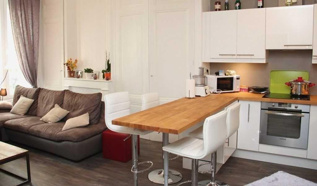 Cuisine Ouverte Salon Petit Espace Amenager Petit Salon Avec