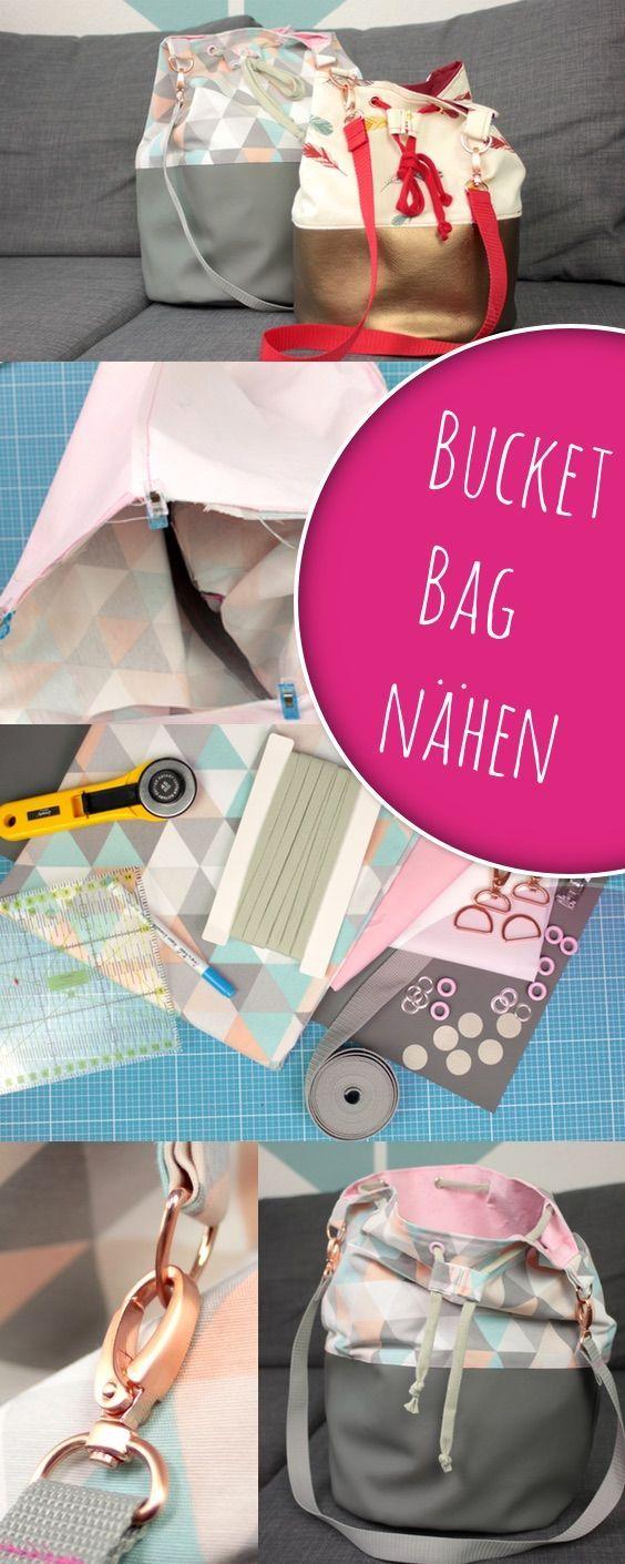 Bucket Bag nach Videoanleitung einfach selber nähen zusammen mit DIY ...