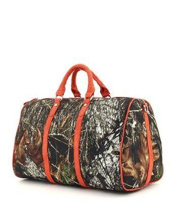 e7f4af338b5f Amazon.com  Mossy Oak Orange Licensed Camouflage Large Duffle Bag  Clothing