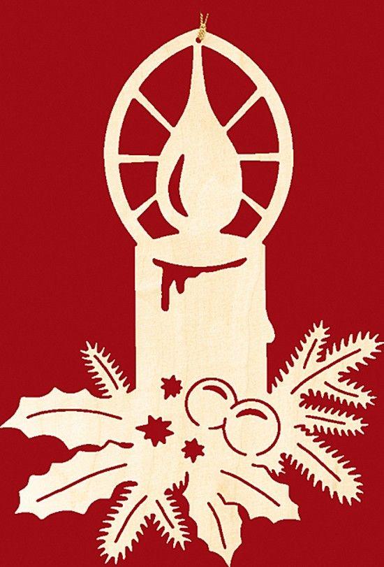 taulin fensterbild weihnachten kerze mit zweigen - klein