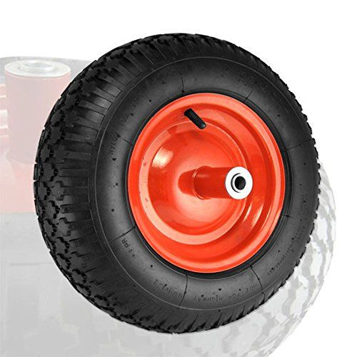 Domeiki 16inch Air Tire For Hand Truck Rubber Dolly Wheel Barrel W 58 Axle Hole Check This Awesome Product By Going To The Link At T Hand Trucks Wheel Axle