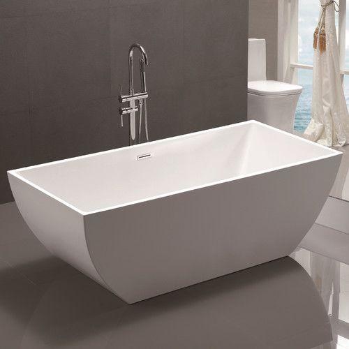 59 X 30 Freestanding Soaking Bathtub Soaking Bathtubs Bathtub