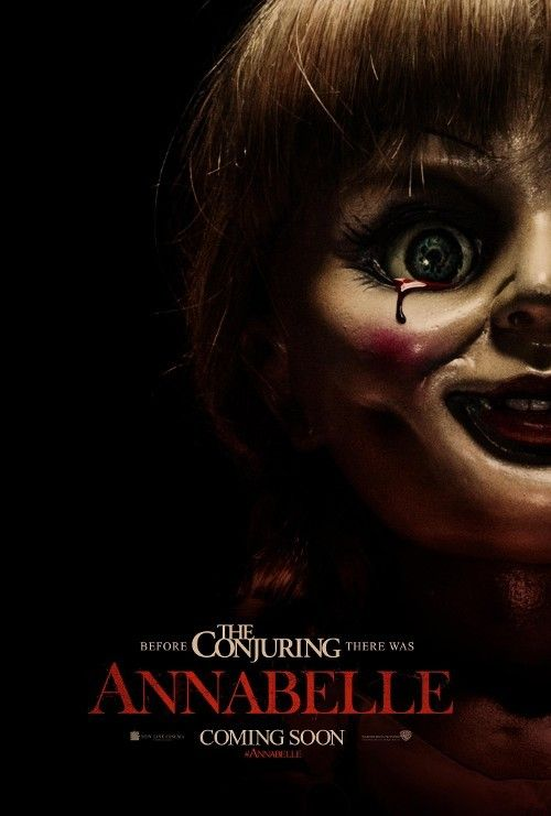 Annabelle Trailer Poster Before The Conjuring Began Best Horror Movies English Movies Horror Movies