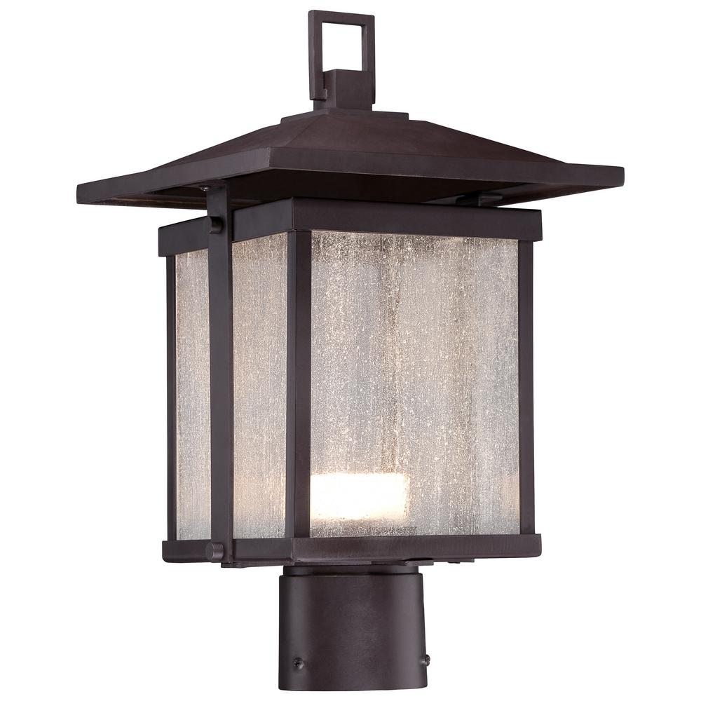 The Great Outdoors By Minka Lavery Hillsdale Outdoor Dorian Bronze Integrated Led Post Light 8166 615b L Outdoor Post Lights Led Post Lights Lamp Post Lights