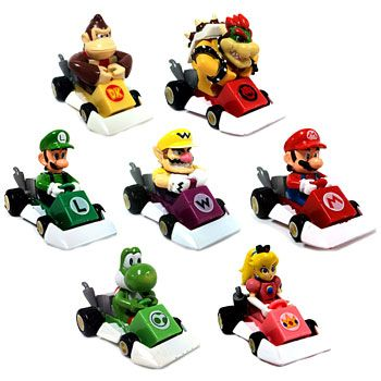 Mario Kart Ds Pull Back Racers Set Of 7 Racers 1 5 Inch