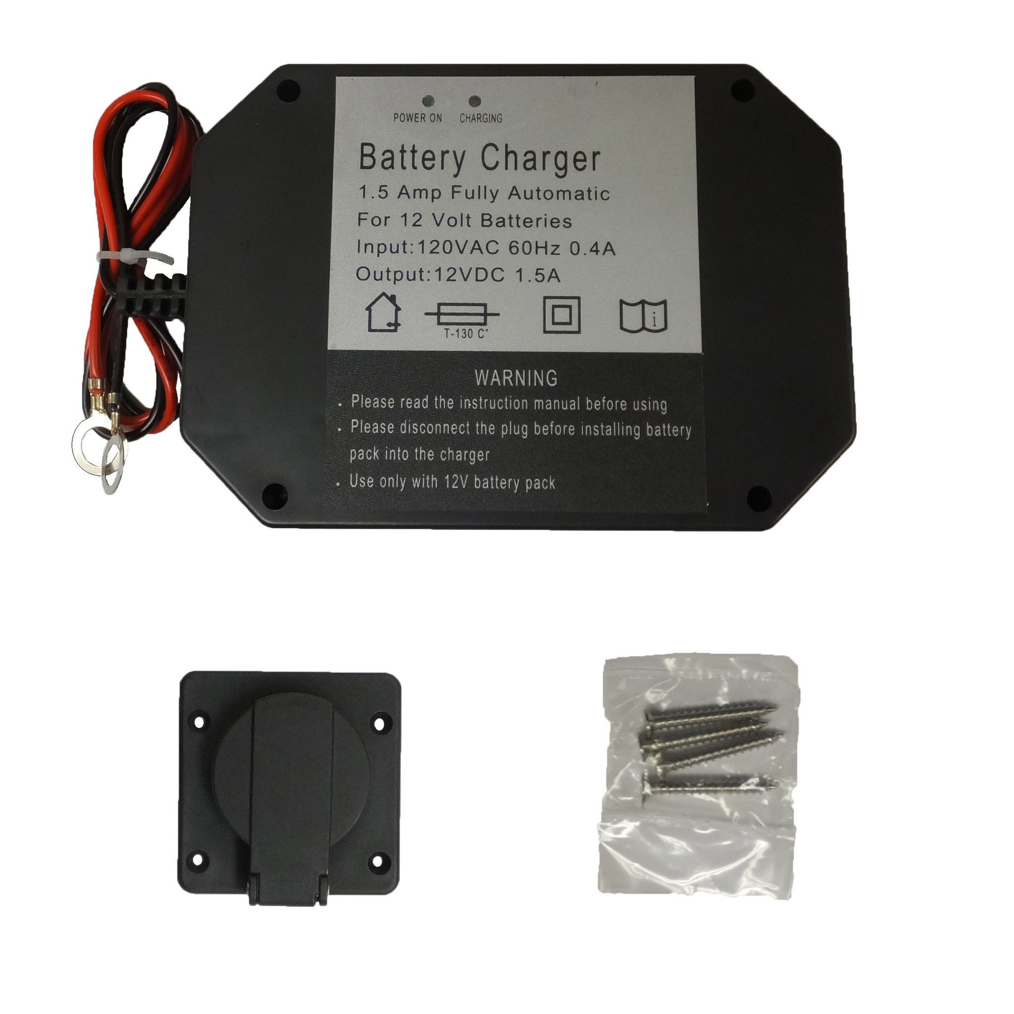 Panel Mount Battery Charger 15 Amps Dump Trailer Products Wiring Trailers Camper Caravan 4x4