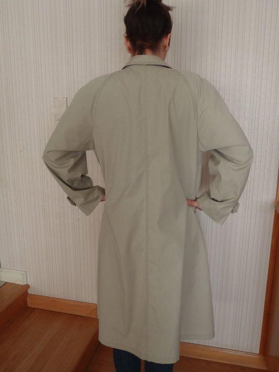 London Fog Overcoat 12R Womens Tan Raincoat by FeistyFarmersWife, $15.00