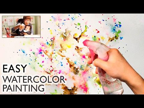 Lvl1 Easy Watercolor Technique For Beginners Basic Spray